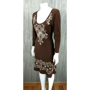 JWLA Johnny Was Embroidered Boho Hippie Dress